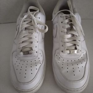 Nike White Air Force Ones - Size 8